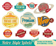 Vintage retro labels and tags royalty free illustration