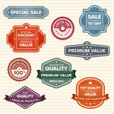 Vintage retro labels in various colors Royalty Free Stock Image