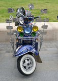 Vintage retro Lambretta motor scooter Royalty Free Stock Photos