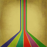 Vintage retro lines. Multicolor vintage retro lines on an old paper look royalty free illustration