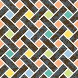Seamless Basket Weave Background Pattern Royalty Free Stock Image