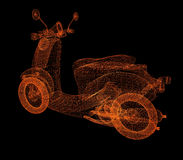 Vintage Retro Moped Royalty Free Stock Images