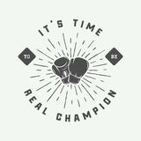 Vintage retro motivation logo, emblem, label, poster Royalty Free Stock Image