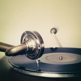 Vintage retro needle on a record gramophone Royalty Free Stock Photos