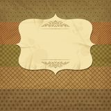 Vintage and retro old paper card with blank space Royalty Free Stock Image