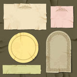 Vintage and retro old paper different objects Stock Image