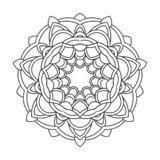 Vintage retro ornamental mandala. round symmetrical pattern royalty free illustration