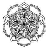 Vintage retro ornamental mandala. round symmetrical pattern vector illustration