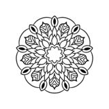 Vintage retro ornamental mandala. round symmetrical pattern vector illustration
