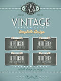 Vintage retro page template for covers Stock Image
