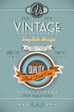 Vintage retro page template for a variety of purposes Royalty Free Stock Photography