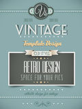 Vintage retro page or cover template Royalty Free Stock Photos