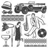 Vintage Retro Party Elements Set Royalty Free Stock Photos