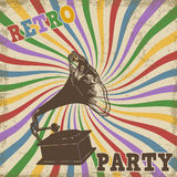 Vintage Retro Party poster Stock Photo
