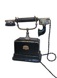 Vintage retro phone with cable isolated, Stock Photography