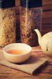Vintage retro photo of tea in oriental cup Royalty Free Stock Photo