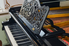 Vintage retro piano. The white and black keys Royalty Free Stock Image