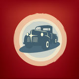 Vintage retro pickup truck car vector Royalty Free Stock Photo