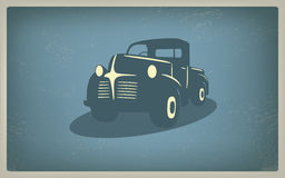Vintage retro pickup truck car vector Stock Image