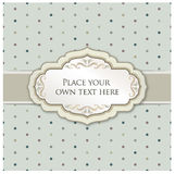 Vintage retro polka dot background with label and copy space Stock Photography