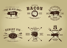Vintage Retro Pork Seals Royalty Free Stock Photos