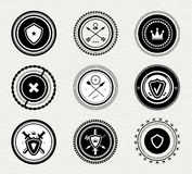 Vintage retro protect badges and labels Stock Image