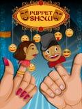 Vintage retro Puppet Show banner poster design Stock Image