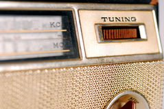 Vintage Retro Radio. Close-up of Tuning knob of a Vintage Retro Radio transistor box Royalty Free Stock Images