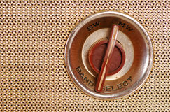 Vintage Retro Radio. Close-up of band switch knob of a Vintage Retro Radio transistor box Stock Images