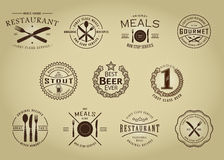 Vintage Retro Restaurant Beer Seals Stock Photography