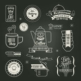 Vintage retro Restaurant Cafe logo Design Royalty Free Stock Photography