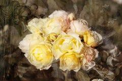 Vintage retro roses Stock Photography