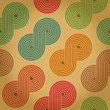 Vintage retro seamless background with closed spirals Royalty Free Stock Photo