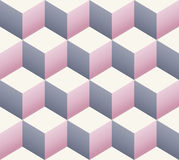 Vintage retro seamless cube pattern Royalty Free Stock Image
