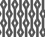 Vintage retro seamless pattern black and white Royalty Free Stock Photography