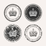 Vintage retro set. Grunge stamp collection Royalty Free Stock Photography