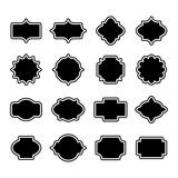 Vintage Retro Simple Labels Set. Vector Silhouette Stock Photo