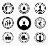 Vintage retro stamps : human resources. Vintage retro stamps | badges | labels : business men and office workers Royalty Free Stock Images