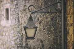 Vintage retro street light on the wall Royalty Free Stock Images