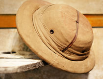Vintage retro style Safari hat Stock Photos