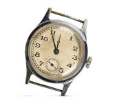 Vintage retro style watch. Isolated on white background Royalty Free Stock Photo