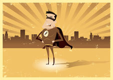 Vintage Retro Super Hero - Male Royalty Free Stock Photos