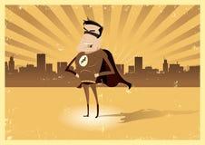 Vintage Retro Super Hero - Male stock illustration