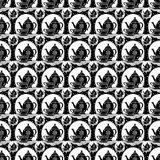 Vintage retro Tea pot and tea cup repeat pattern in black and white Royalty Free Stock Photography