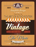 Vintage retro template for a lot of purposes. Vintage retro page template for a variety of purposes: website home page, old style flyers, book covers or vintage