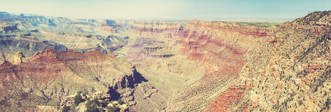 Vintage retro toned panoramic view of Grand Canyon, USA Royalty Free Stock Photography