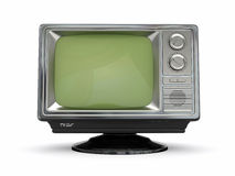 Vintage retro tv Stock Photography