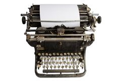 Vintage retro typewriter Stock Images