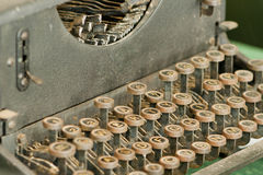 Vintage retro typewriting machine. Photo of pre-war typewriting machine Royalty Free Stock Image
