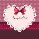 Vintage retro vector cute frame with heart Stock Photos
